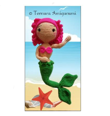 Crochet Doll Pattern - Mermaid, stuffed doll pattern, amigurumi ... | 450x424