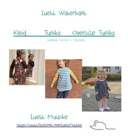 E-Book Luett Waterkant 3 in 1 Kleid - Tunika - Oversize Gr. 74-140