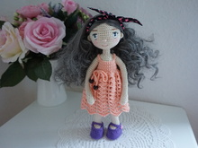 Doll crochet with lace dress pattern