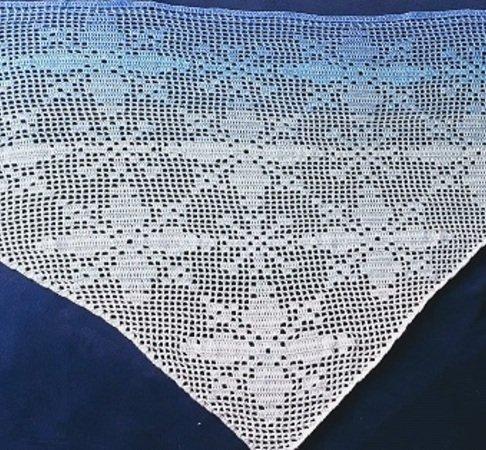 Dreieckstuch häkeln // Schneeflocken-Motiv