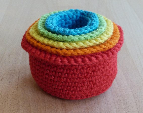 Stacking Toy Crochet Patterns | Virkmönster, Virkning baby och ... | 450x568