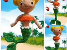Crochet pattern Lissa  the mermaid PDF ternura amigurumi english