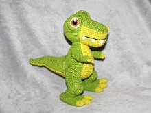 T- Rex crochet pattern, english version