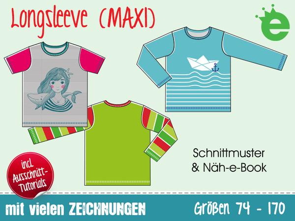detaillierte Bilder größte Auswahl doppelter gutschein Longsleeve • Kinder-Shirt Gr. 74-170 • E-Book und Schnittmuster unisex