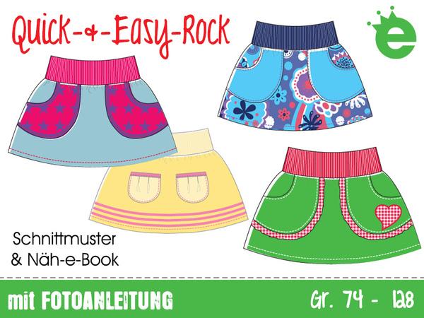 Quick- und Easy-Rock • Gr. 74 -128 • E-Book / Schnittmuster ...