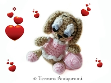 Crochet pattern Lulu puppy dog PDF ternura amigurumi english