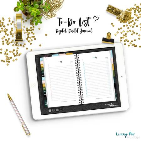 Bullet Journal ToDo List (printable PDF and JPGs for digital and traditional planning)