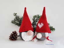 Pattern Tomtes, crochet gnomes,
