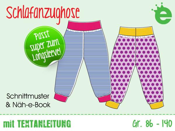 Schlafanzughose für Kinder • Gr. 86-140 • unisex Bündchenhose • E ...
