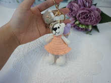 Little bear bag charm crochet pattern