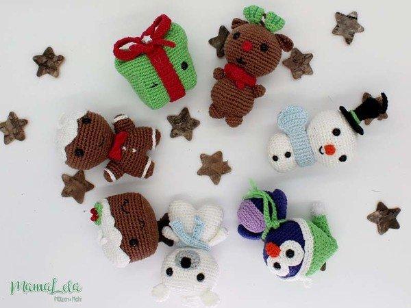 Weihnachtsdeko Häkeln Tiere Im Set Häkeln