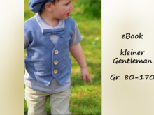 E-Book kleiner Gentleman Gr. 80-170 Shirt mit Fake-Weste