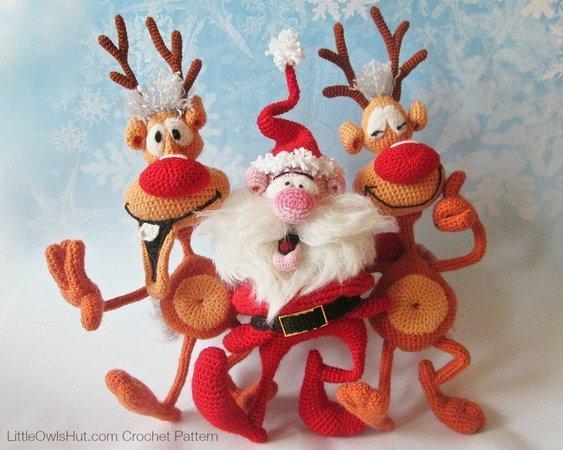 Amigurumi Santa Pattern Santa Claus Crochet Pattern Santa | Etsy | 450x563