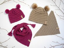 Crochet Pattern – Asterisk Set – Cap & Scarf – no.210E