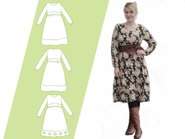 Ebook Schnittmuster Und Nahanleitung Kleid Damen Grosse Maje Gr 32