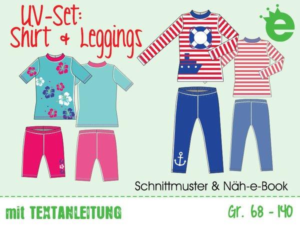 UV-Schutz-Shirt und Leggings • Gr. 68 - 140 • E-Book & Schnittmuster