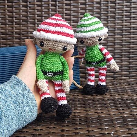 Weihnachtself Häkeln Weihnachtsdeko Häkeln