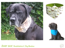 Dandy Reversible Dog Bandana Sewing Pattern