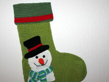 snowman xmas stocking crochet pattern