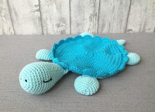 Crochet Pattern Snuggly Blanket Turtle