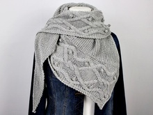 "Knitting pattern shawl ""Cables over Cables"""