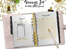 Bullet Journal Savings Jar Printable - Template - A5 - A4 - US Letter