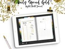 Bullet Journal Daily Spread Gold for your digital Planner