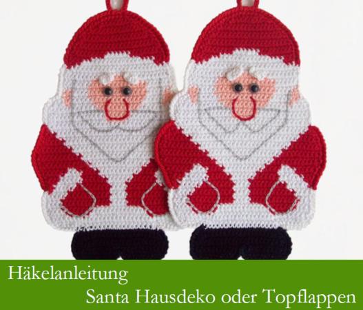 039de Häkelanleitung Weihnachtsmann Topflappen Pdf Zabelina Cp