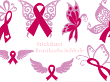 Brustkrebs Schleife Stickdatei