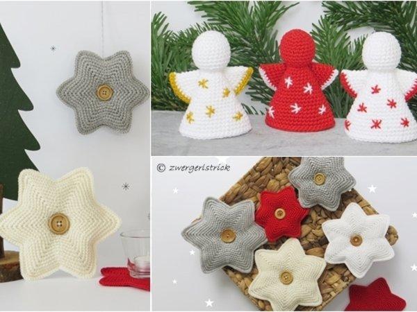 Weihnachtsdeko Häkeln Engel Und Sterne