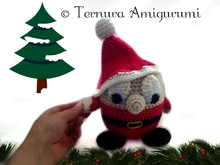crochet pattern Santa Claus Gnome PDF english- deutsch- dutch ternura amigurumi