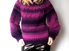 Crochet Ombre Sweater