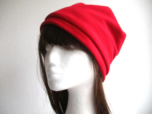 lined fleece beanie hat sewing pattern, 6 sizes