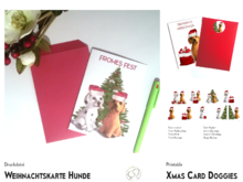 Christmas Card Dogs 9 Designs template+instructions