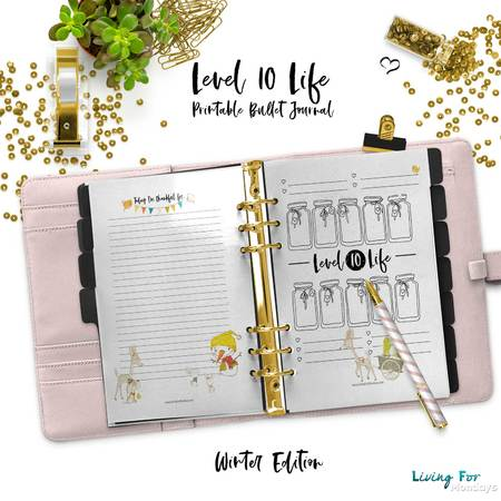 graphic about Level 10 Life Printable identify Bullet Magazine Graude Log Point 10 Everyday living for your electronic Planner