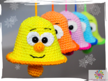 Funny bells - crochet pattern