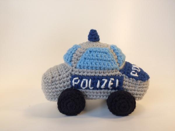 Häkelanleitung Für Ein Knuffiges Kleines Polizeiauto