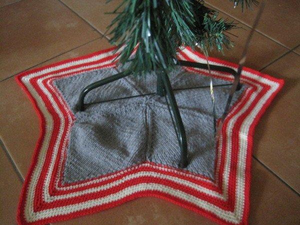 Strickanleitung Weihnachtsbaum Decke Mit Häkelrand