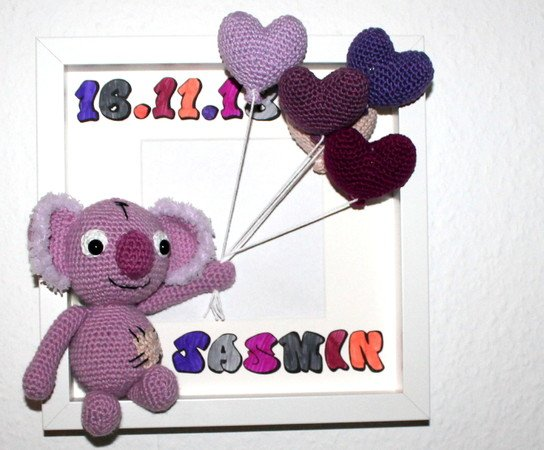 koala baby card crochet pattern english version
