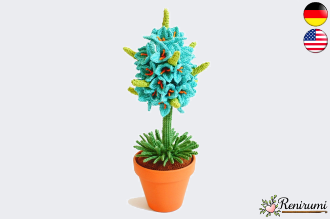 Crochet pattern Blue Puya