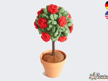 Crochet pattern Rose Tree