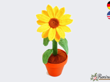 Crochet pattern Sunflower
