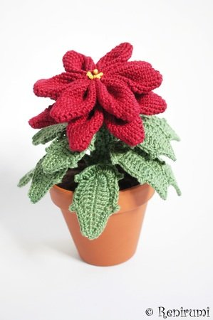 Crochet pattern Poinsettia