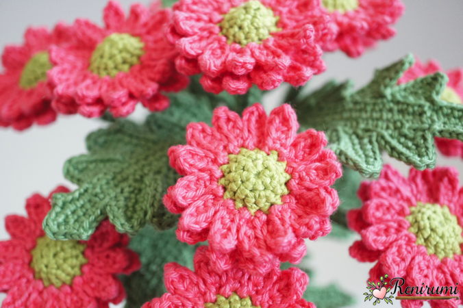 Crochet pattern Cutflower Chrysanth