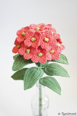 Crochet pattern Cutflower Hydrangea