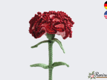 Crochet pattern Cutflower Carnation