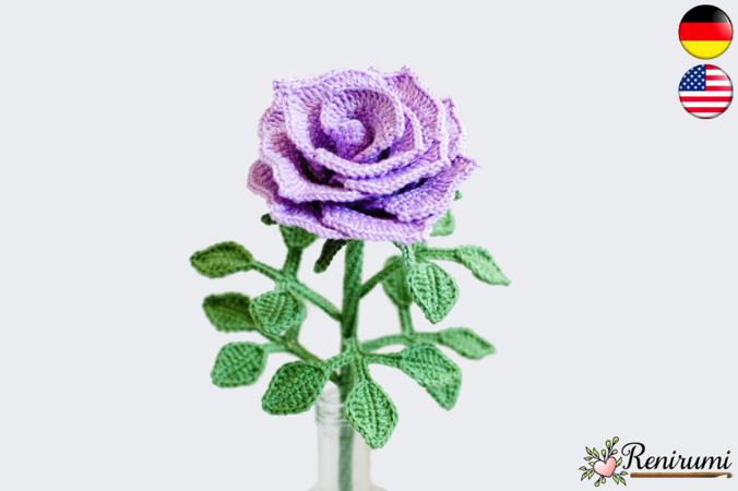 Rose Häkeln Blume Häkeln Schnittblume