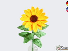 Crochet pattern Cutflower Sunflower