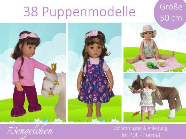 Neu Schnittmuster 38 Modelle Für Gr 50cm Puppenkleidung