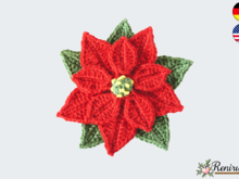 Crochet pattern application poinsettia